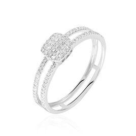 Bague Aude Or Blanc Diamant - Bagues avec pierre Femme | Histoire d'Or