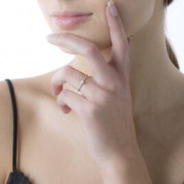Bague Solitaire Liseline Or Blanc Diamant - Bagues solitaires Femme   Histoire d'Or