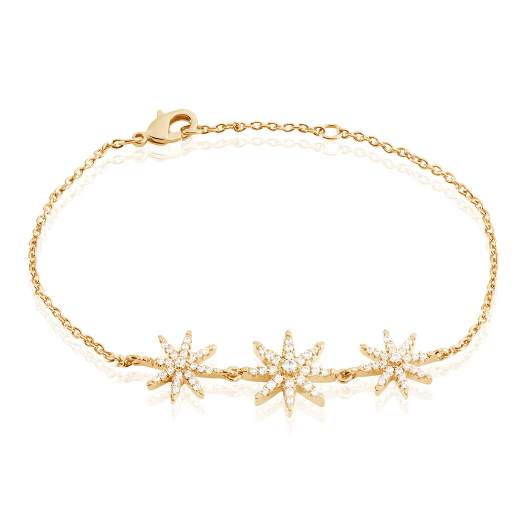 Bracelet Marcellina Plaque Or Jaune Oxyde De Zirconium - Bijoux Etoile Femme   Histoire d'Or