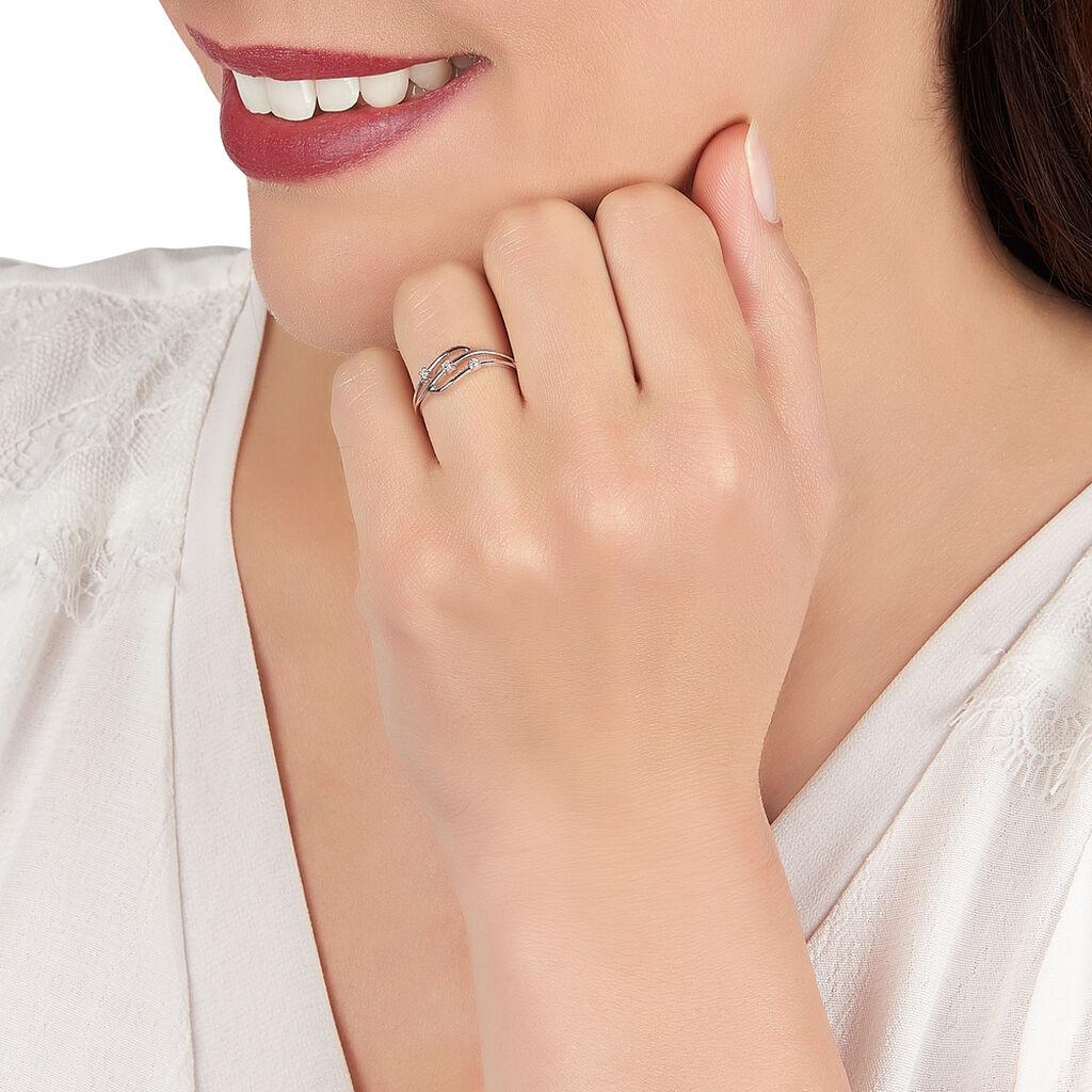 Bague Marnie Or Blanc Diamant - Bagues avec pierre Femme   Histoire d'Or