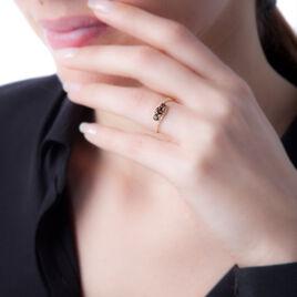 Bague Chloe Or Jaune Quartz Et Oxyde De Zirconium - Bagues solitaires Femme | Histoire d'Or