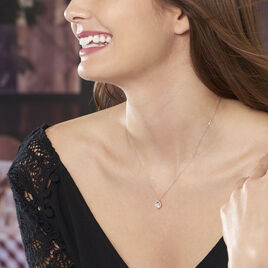 Collier Verounia Or Jaune Oxyde De Zirconium - Colliers Coeur Femme | Histoire d'Or