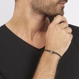 Bracelet Fabrice Acier Blanc - Bracelets cordon Homme | Histoire d'Or