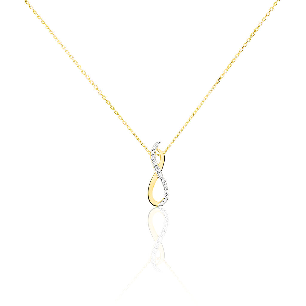 Collier Osanna Or Jaune Diamant - Colliers Infini Femme | Histoire d'Or