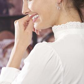 Créoles Violet Argent Blanc - Boucles d'Oreilles Etoile Femme | Histoire d'Or