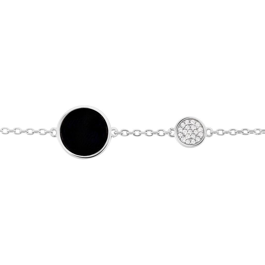 Bracelet Adonya Argent Blanc Céramique Et Oxyde De Zirconium - Bracelets fantaisie Femme | Histoire d'Or