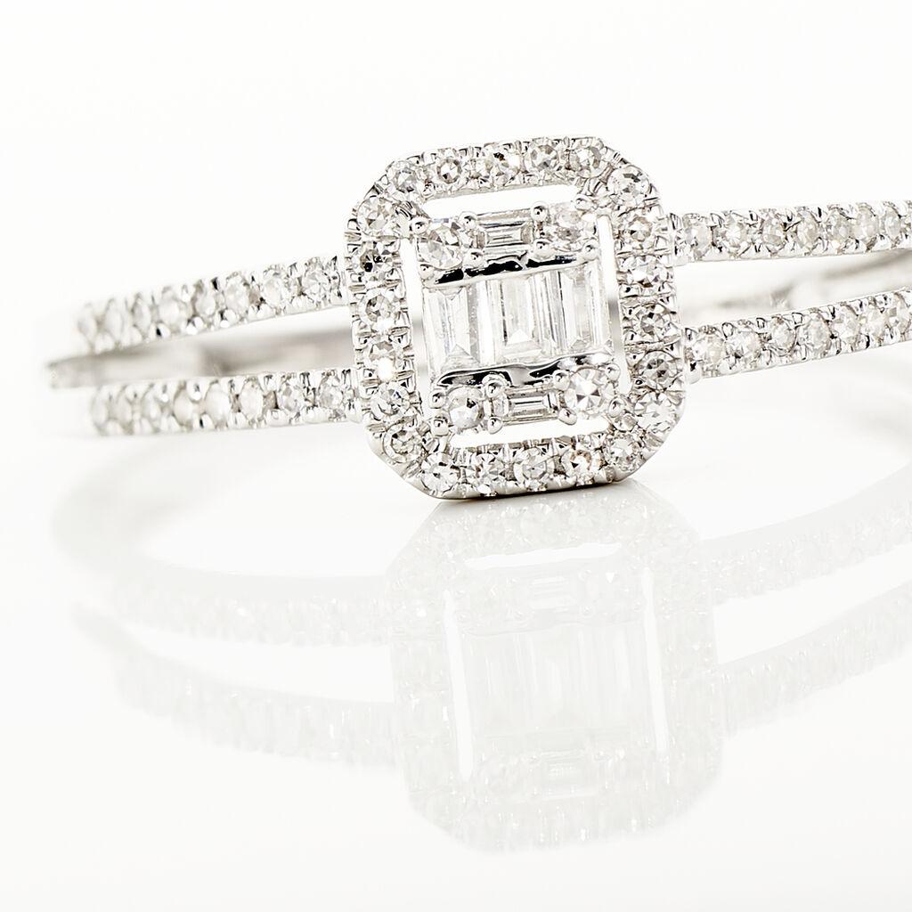 Bague Natacha Or Blanc Diamant - Bagues avec pierre Femme   Histoire d'Or