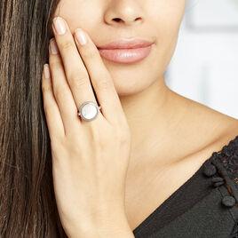 Bague Laetizia Celine Argent Blanc Nacre - Bagues Attrape rêves Femme | Histoire d'Or
