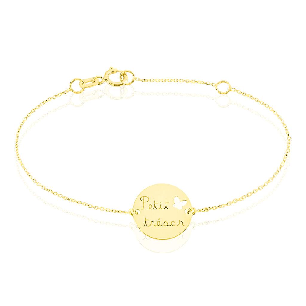 Bracelet Benedicte Message Or Jaune - Bracelets Naissance Enfant   Histoire d'Or