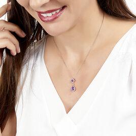 Collier Or Rose Amethyste Diamant - Bijoux Femme | Histoire d'Or