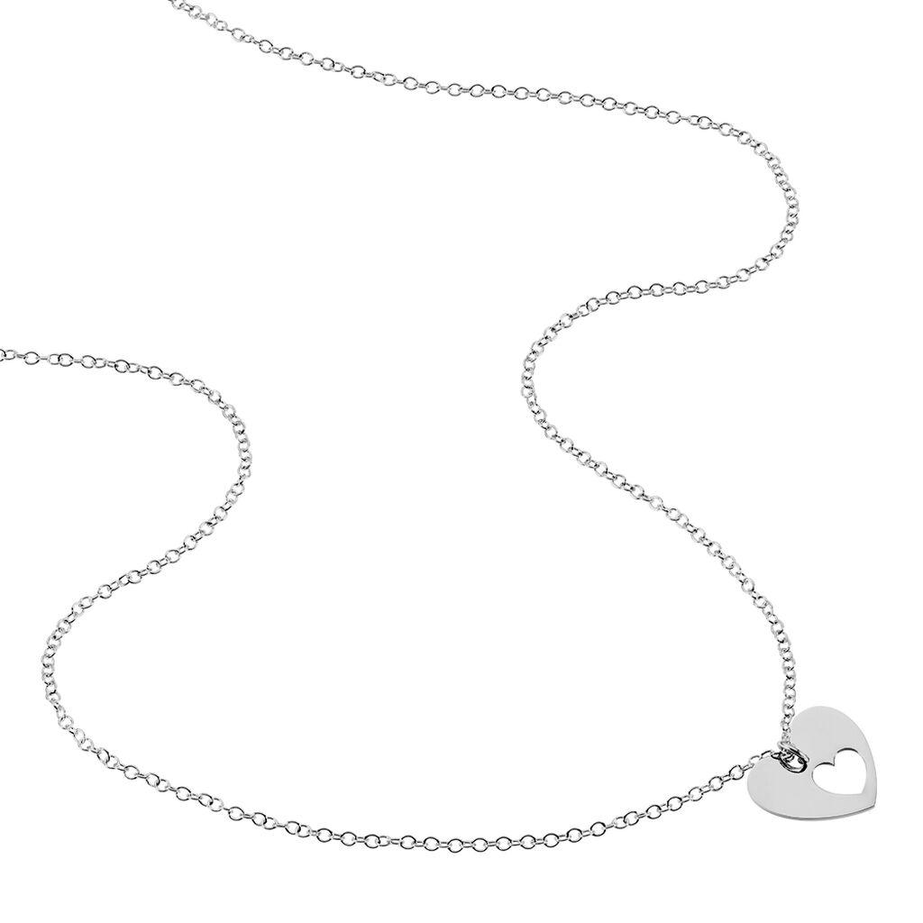 Collier Cijane Argent Blanc - Colliers Coeur Femme | Histoire d'Or