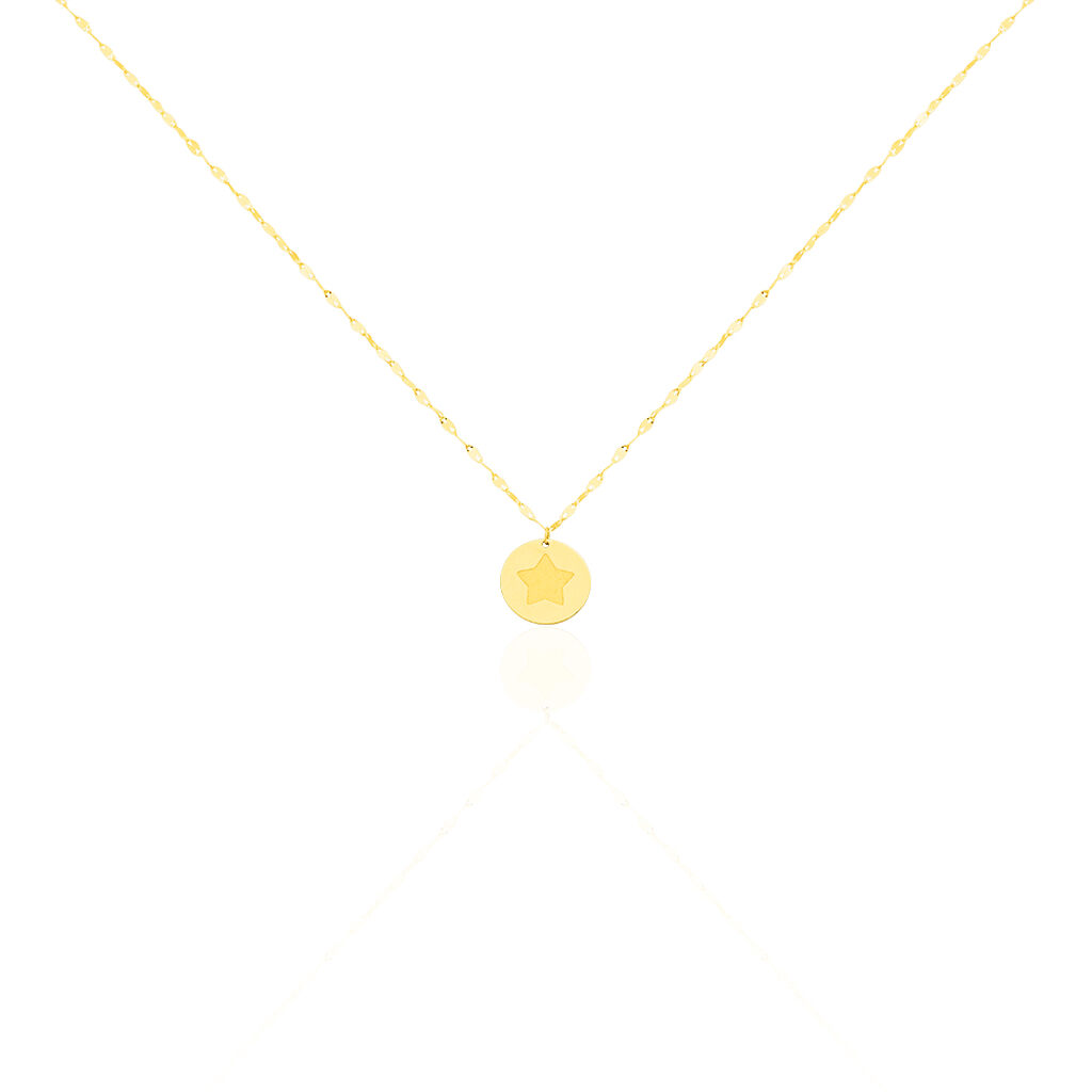 Collier Elynna Etoile Or Jaune - Colliers Etoile Femme | Histoire d'Or