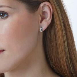 Boucles D'oreilles Puces Or Blanc Diamant - Clous d'oreilles Femme | Histoire d'Or