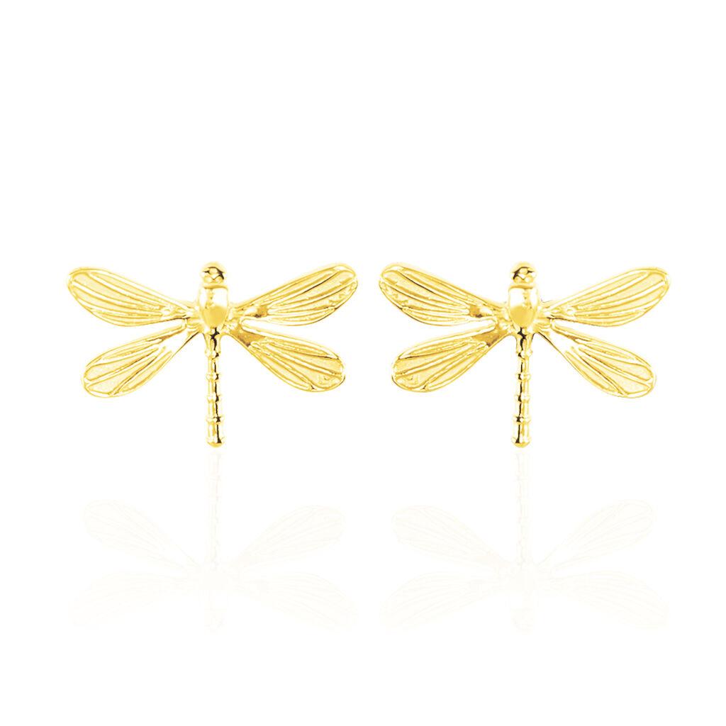Boucles D'oreilles Puces Ayiane Or Jaune - Clous d'oreilles Femme | Histoire d'Or