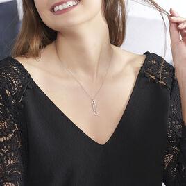 Collier Ela Argent Blanc Oxyde De Zirconium - Colliers fantaisie Femme | Histoire d'Or