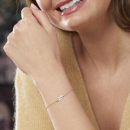Bracelet Paola Or Jaune Diamant - Bracelets Plume Femme | Histoire d'Or