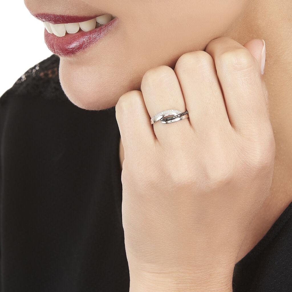 Bague Melinda Or Blanc Diamant - Bagues avec pierre Femme   Histoire d'Or