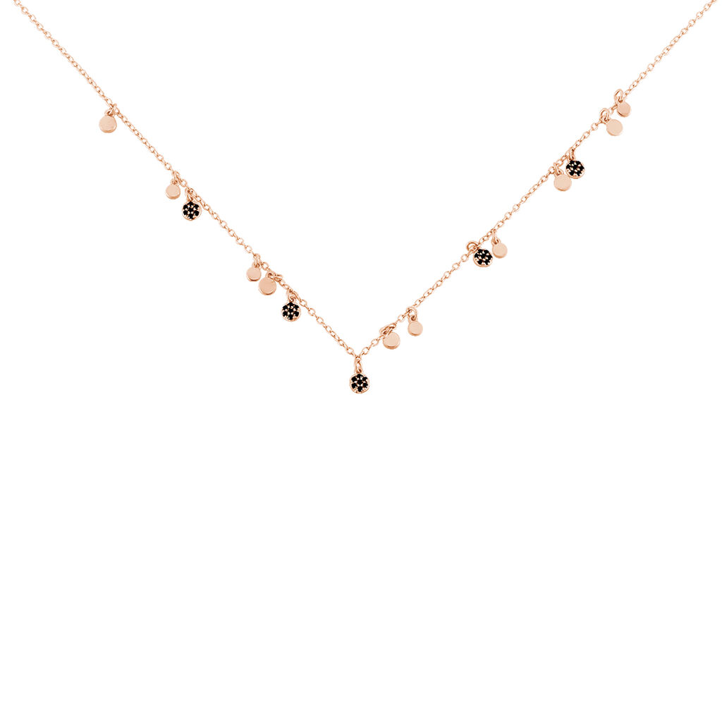 Collier Fares Argent Rose Spinelle - Colliers fantaisie Femme | Histoire d'Or