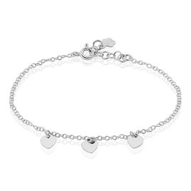Bracelet Maryline Argent Blanc - Bracelets Coeur Femme   Histoire d'Or