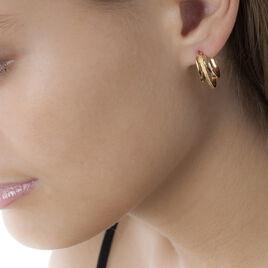 Créoles Clarette Plaque Or Jaune - Boucles d'oreilles créoles Femme   Histoire d'Or