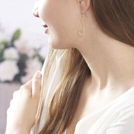 Boucles D'oreilles Pendantes Anessa Or Jaune - Boucles d'oreilles pendantes Femme | Histoire d'Or