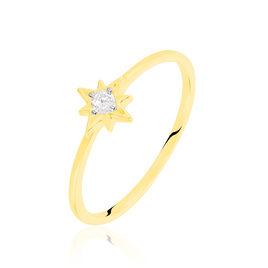 Bague Astralia Or Jaune Oxyde De Zirconium - Bagues Etoile Femme | Histoire d'Or
