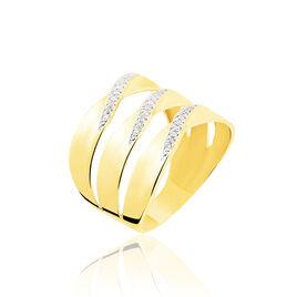 Bague Catharine 3 Rangs Or Jaune Diamant - Bagues avec pierre Femme | Histoire d'Or
