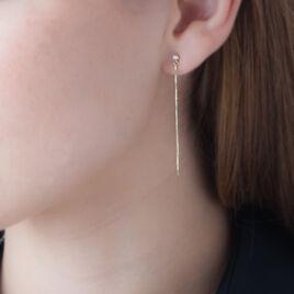 Boucles D'oreilles Pendantes Aila Or Jaune Oxyde De Zirconium - Boucles d'oreilles pendantes Femme | Histoire d'Or