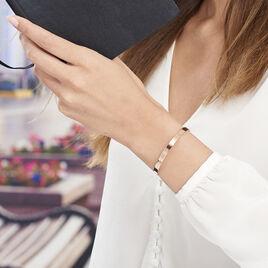 Bracelet Jonc Gravita Argent Rose - Bracelets fantaisie Femme   Histoire d'Or