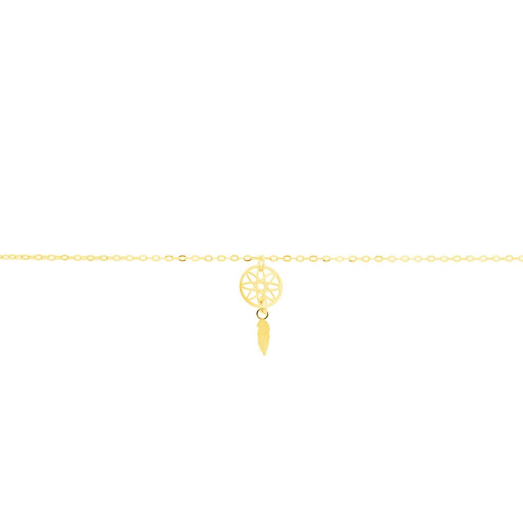 Chaîne De Cheville Attrape Reve Or Jaune - Bijoux Attrape rêves Femme | Histoire d'Or