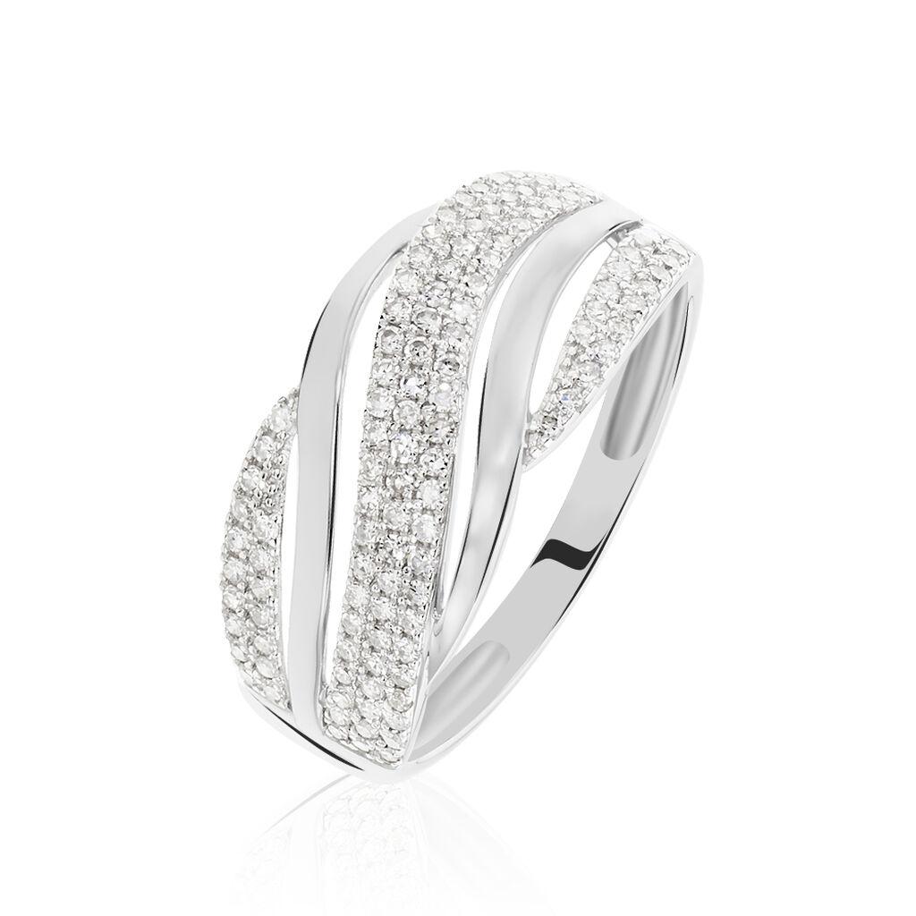 Bague Phaedra Or Blanc Diamant - Bagues avec pierre Femme   Histoire d'Or