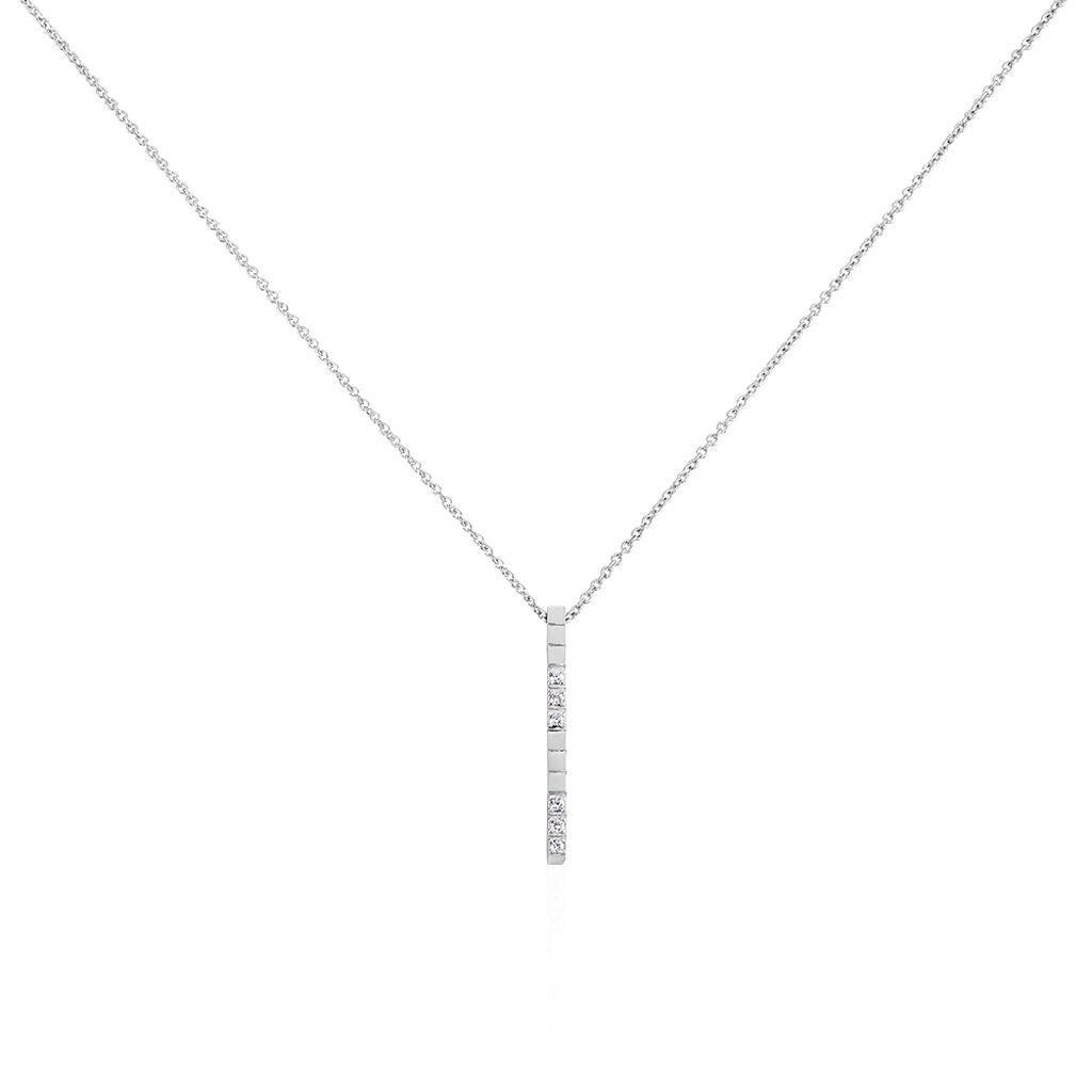 Collier Fimia Argent Blanc Oxyde De Zirconium - Colliers fantaisie Femme | Histoire d'Or