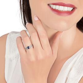 Bague Siracuse Or Blanc Saphir Et Diamant - Bagues solitaires Femme | Histoire d'Or
