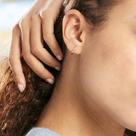 Créoles Valerina Ciselees Or Blanc - Boucles d'oreilles créoles Femme | Histoire d'Or