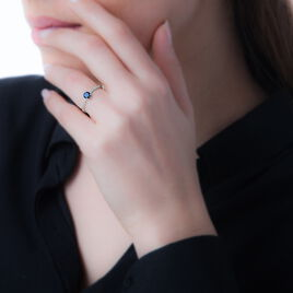 Bague Farima Or Blanc Saphir Et Diamant - Bagues avec pierre Femme | Histoire d'Or