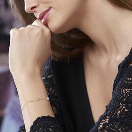 Bracelet Or Jaune Powoo Plume - Bracelets Plume Femme | Histoire d'Or