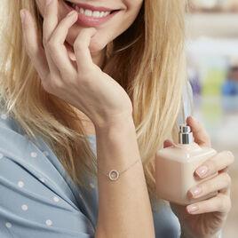 Bracelet Black Jack Argent Blanc Oxyde De Zirconium - Bracelets fantaisie Femme | Histoire d'Or