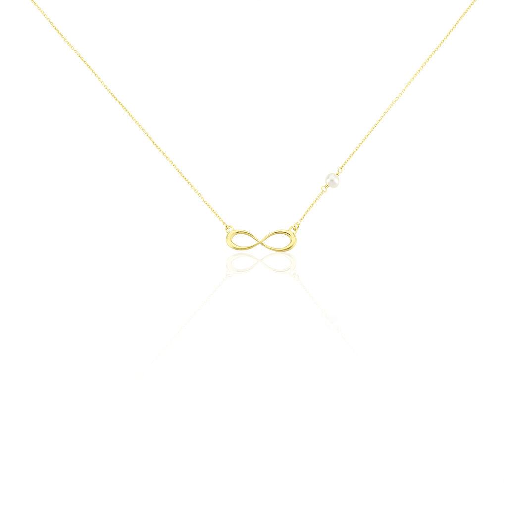 Collier Illenia Or Jaune Perle De Culture - Colliers Infini Femme | Histoire d'Or