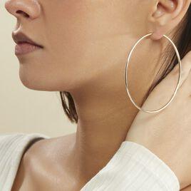 Créoles Ada Lisse Plaque Or Jaune - Boucles d'oreilles créoles Femme   Histoire d'Or