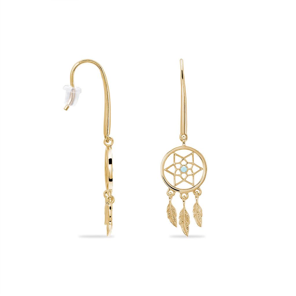 Boucles D'oreilles Plaqué Or - Boucles d'Oreilles Attrape rêves Femme | Histoire d'Or