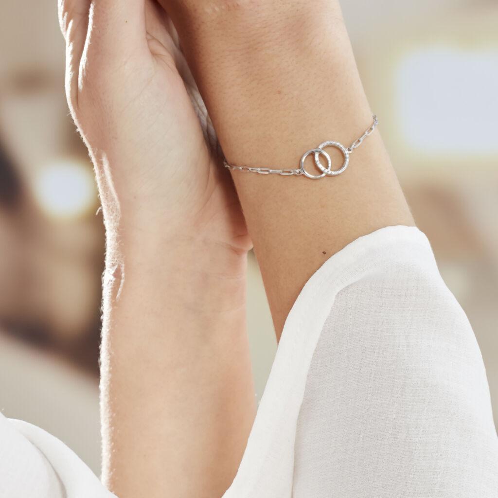 Bracelet Isabel Argent Blanc Oxyde De Zirconium - Bracelets fantaisie Femme   Histoire d'Or