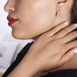 Boucles D'oreilles Pendantes Nyoko Argent Blanc Labradorite - Boucles d'oreilles fantaisie Femme   Histoire d'Or