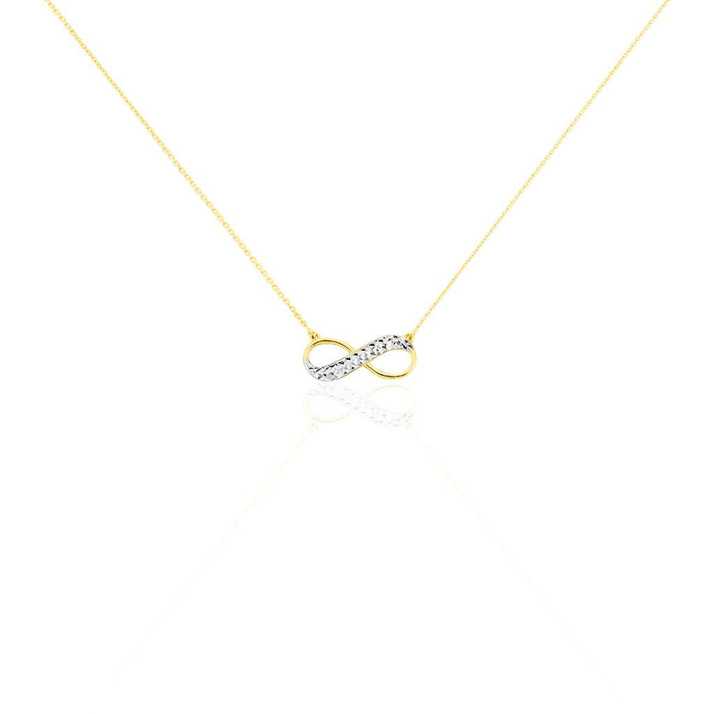 Collier Maryeme Infini Diamante Or Jaune - Colliers Infini Femme | Histoire d'Or