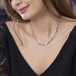 Collier Benedicta Argent Blanc - Bijoux Femme   Histoire d'Or