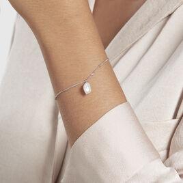 Bracelet Lovell Argent Rhodié Perle De Culture - Bracelets fantaisie Femme   Histoire d'Or