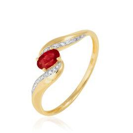 Bague Brittanica Or Jaune Rubis Et Diamant - Bagues avec pierre Femme | Histoire d'Or