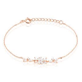 Bracelet Wanda Argent Rose Oxyde De Zirconium - Bracelets Plume Femme | Histoire d'Or