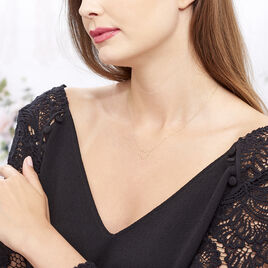 Collier Roselin Or Jaune - Colliers Coeur Femme | Histoire d'Or