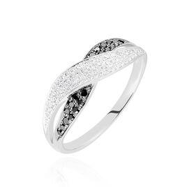 Bague Vahide Or Blanc Diamant - Bagues avec pierre Femme   Histoire d'Or