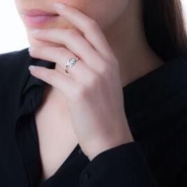 Bague Ferdi Or Blanc Oxyde De Zirconium - Bagues avec pierre Femme   Histoire d'Or